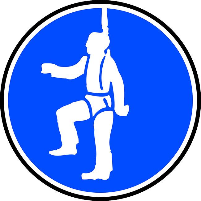Safety harness safety sign