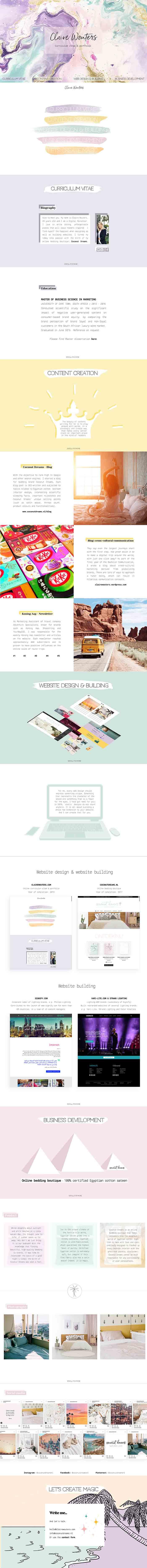 CLAIREWOUTERS.COM Claire Wouters webdesign webbuilding