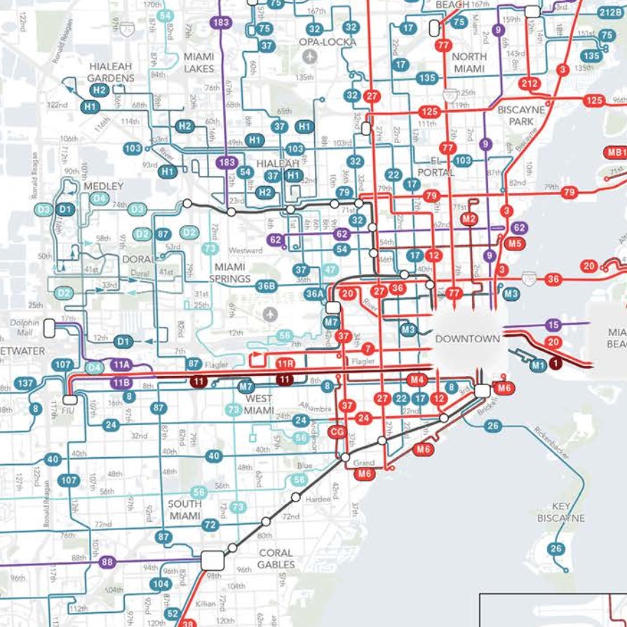 30 miami dade bus routes map - online map around the world
