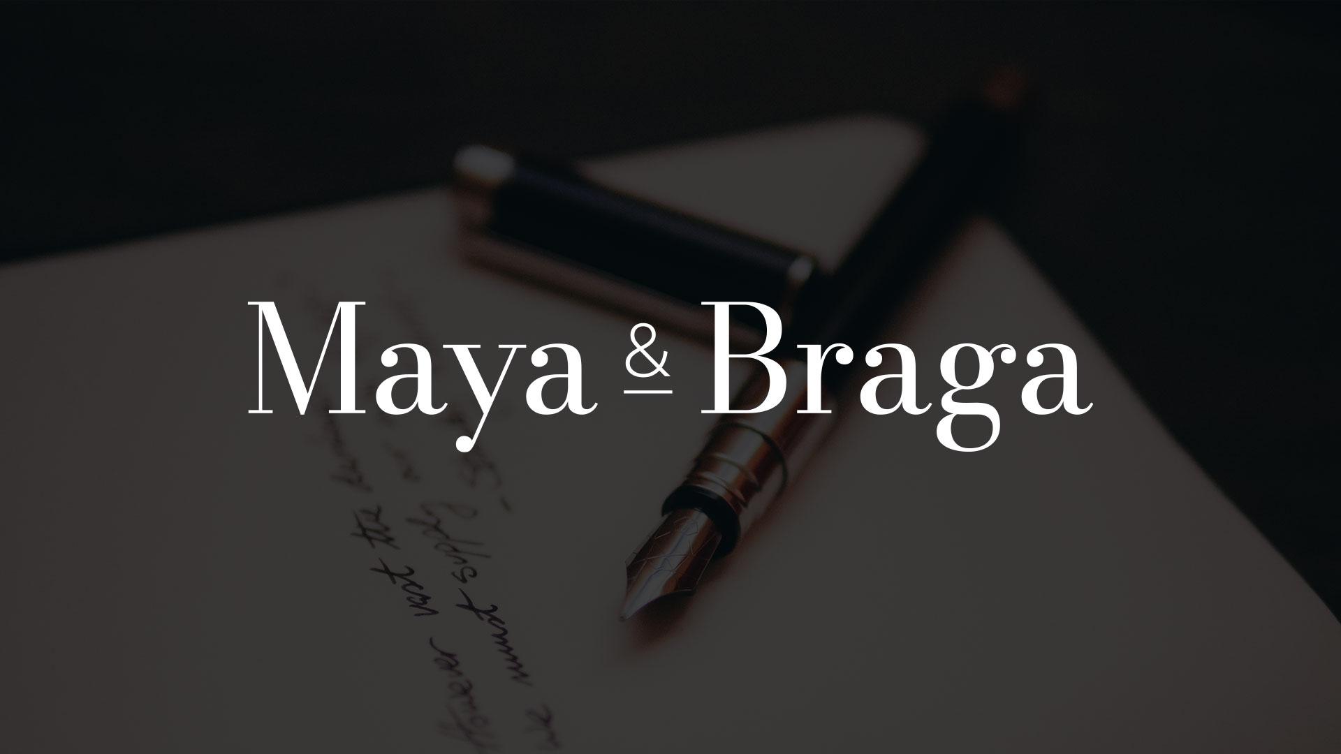 Maya e Braga logo