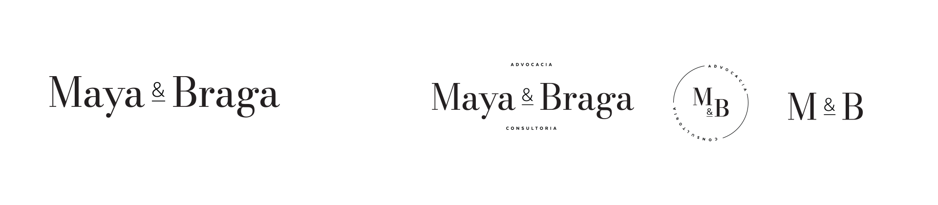 Maya e Braga logo versions