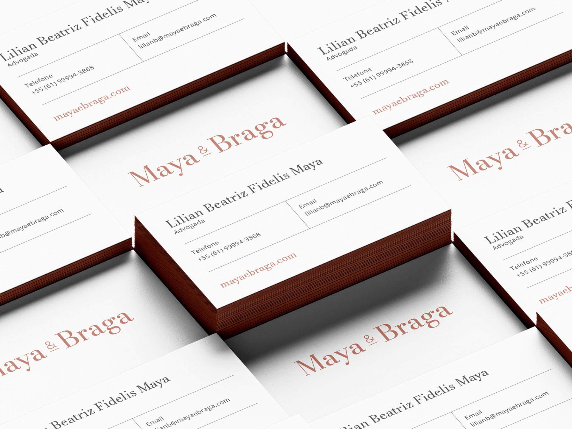 Maya e Braga's business cards