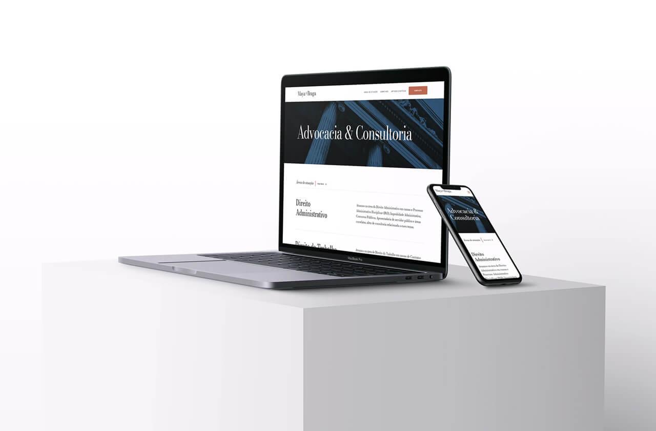 macbook and iphone displaying website