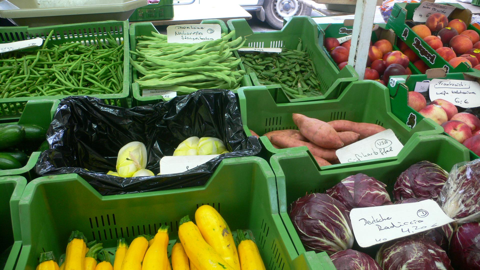 Gemüse am Stand der Gärtnerei Ernst