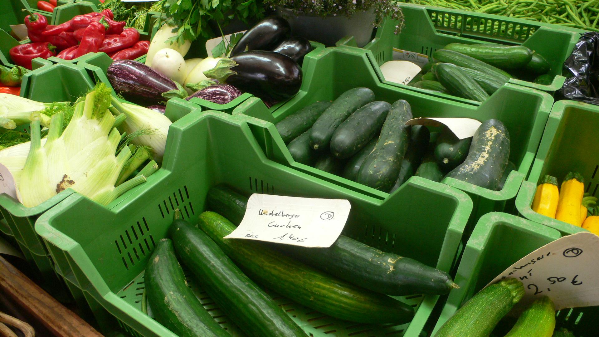 Marktstand von Ernst in Ziegelhausen