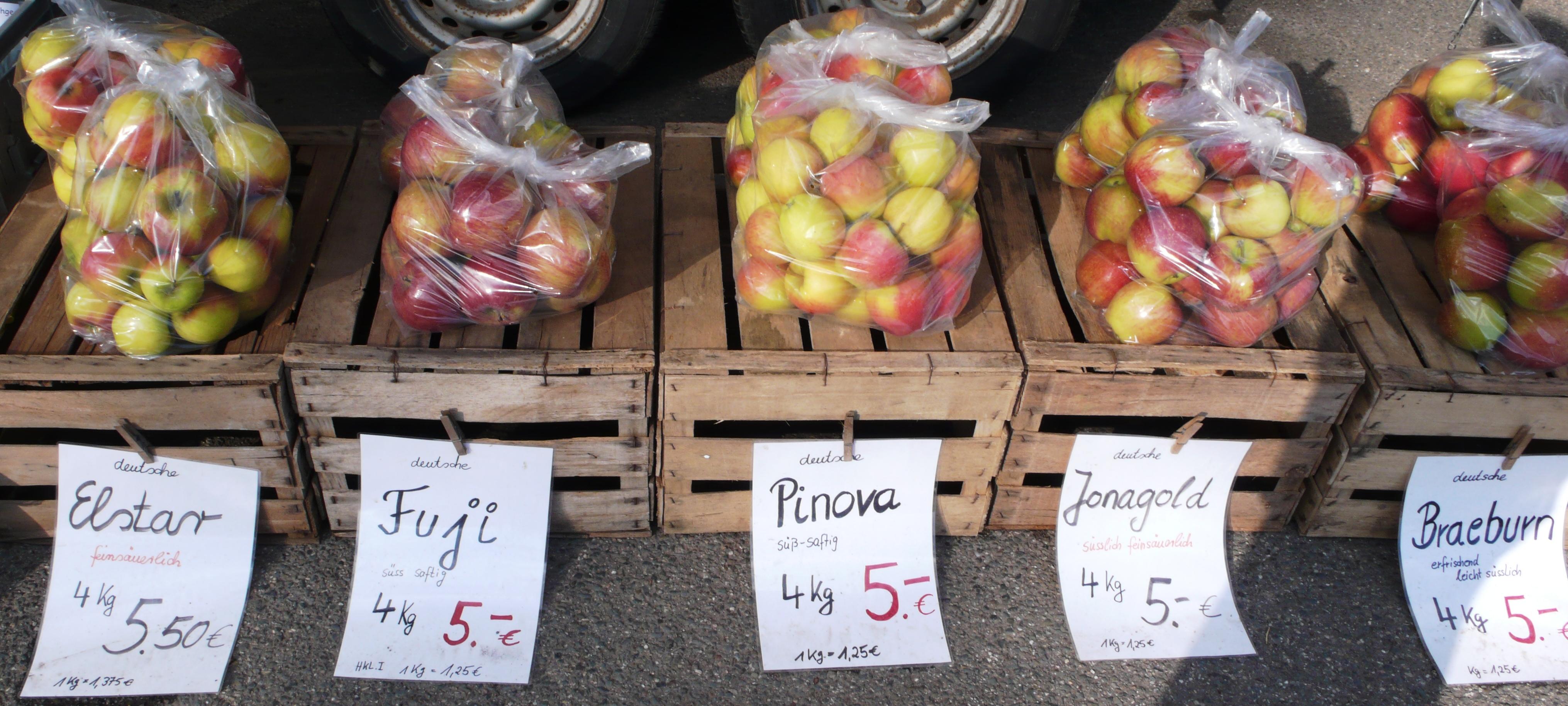 Apfelverkauf in Heidelberg-Ziegelhausen