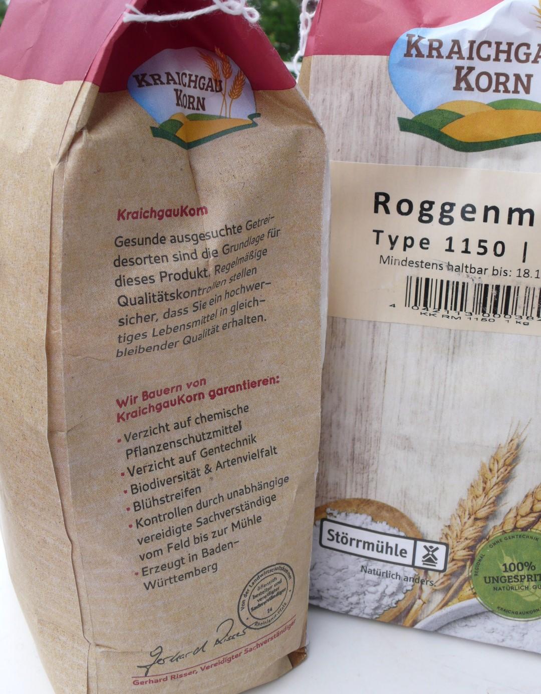 Regionales Korn erhältlich, in mehreren Arten und Typenzahlen