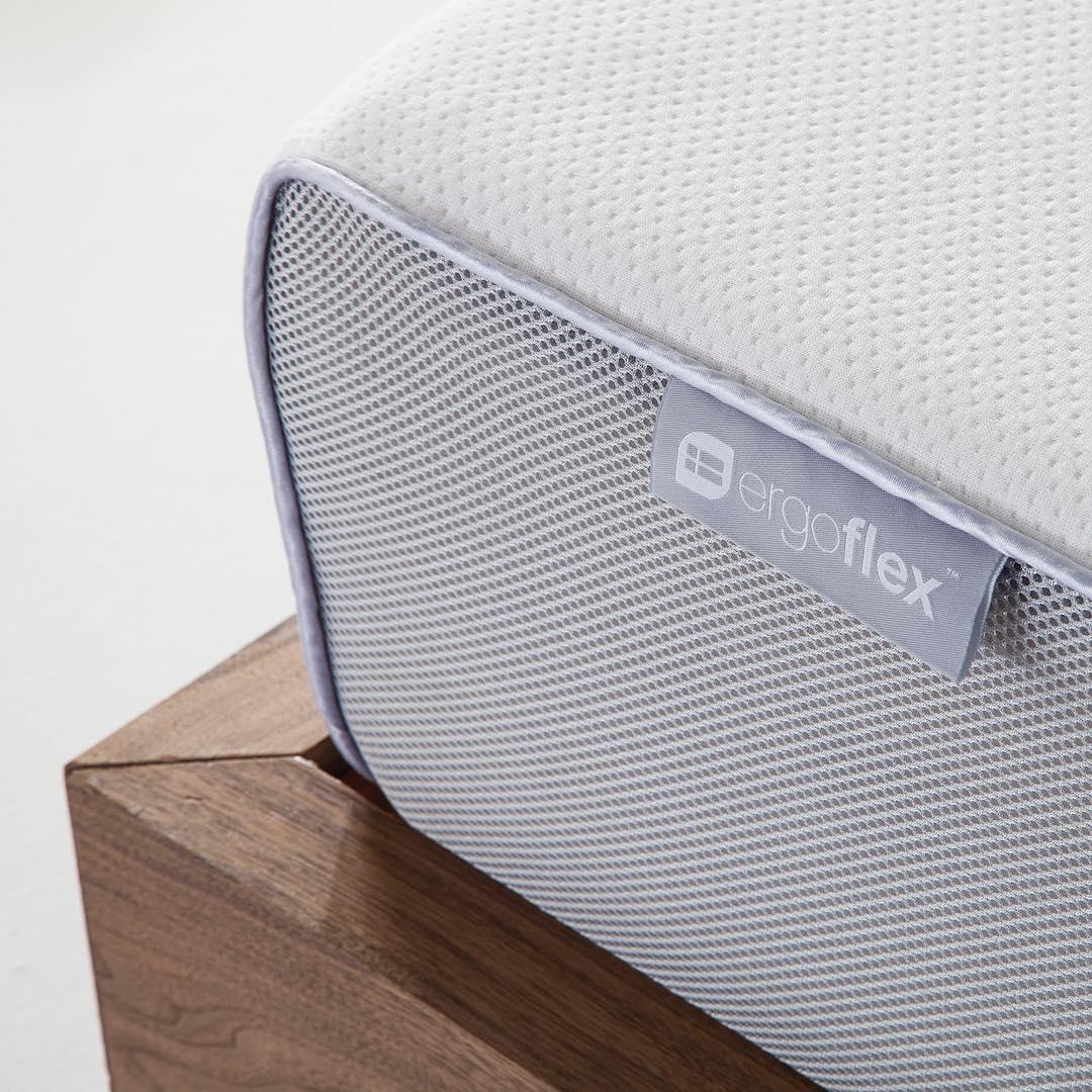 Corner section of the Ergoflex mattress