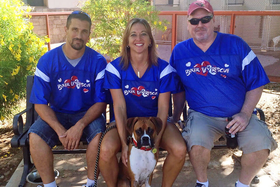 Boxer Luv kennel crew volunteers