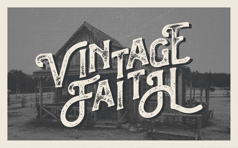 "The teaching series title, ""Vintage Faith"""