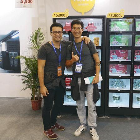TK Wang at a trade fair in China