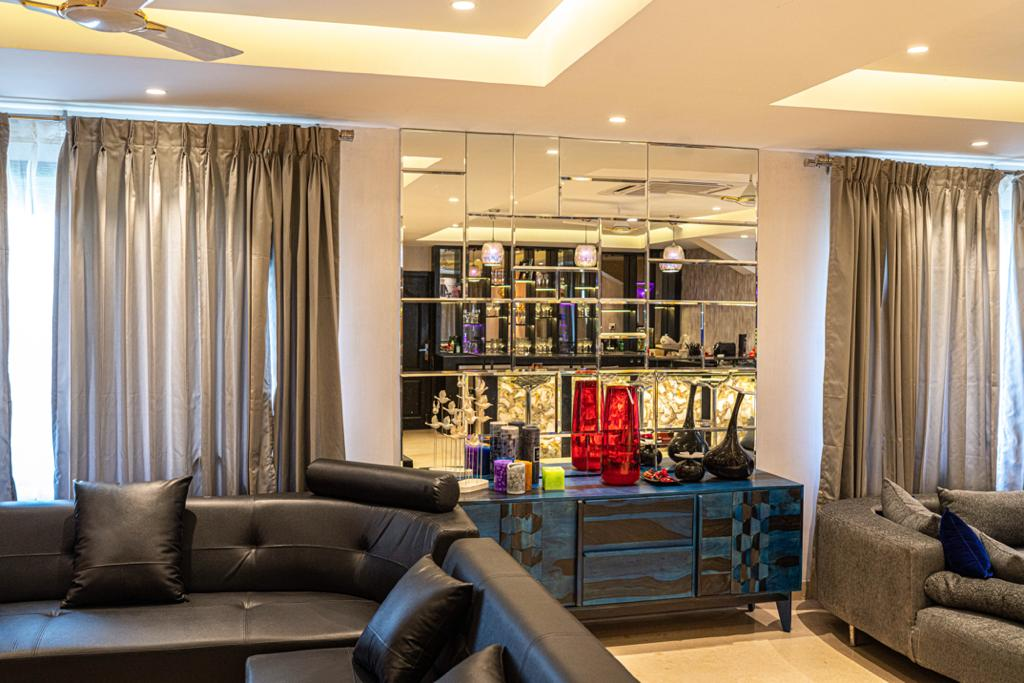 Luxurious living room interiors in Chennai