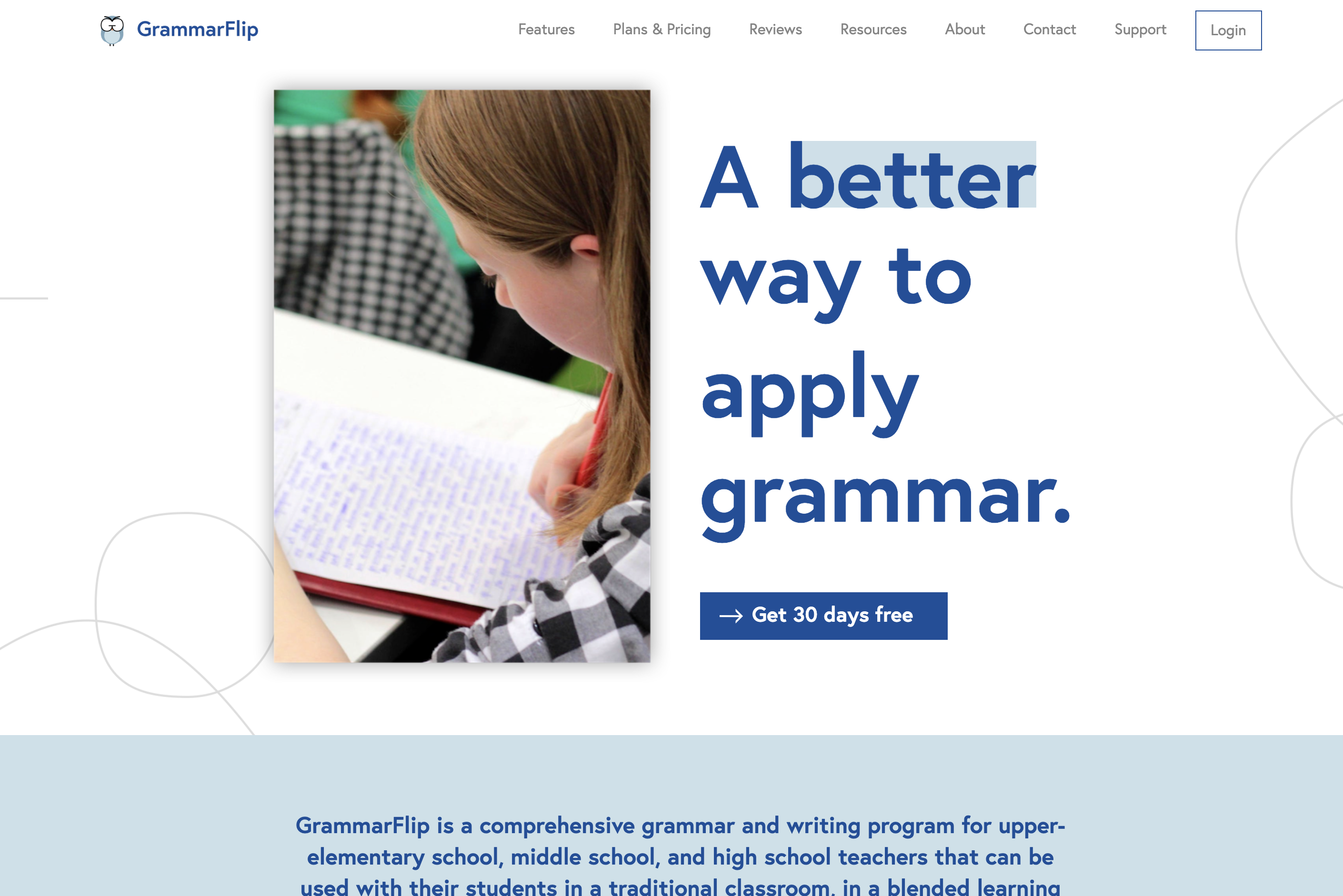 GrammarFlip: The Interactive Online Grammar and Writing Program