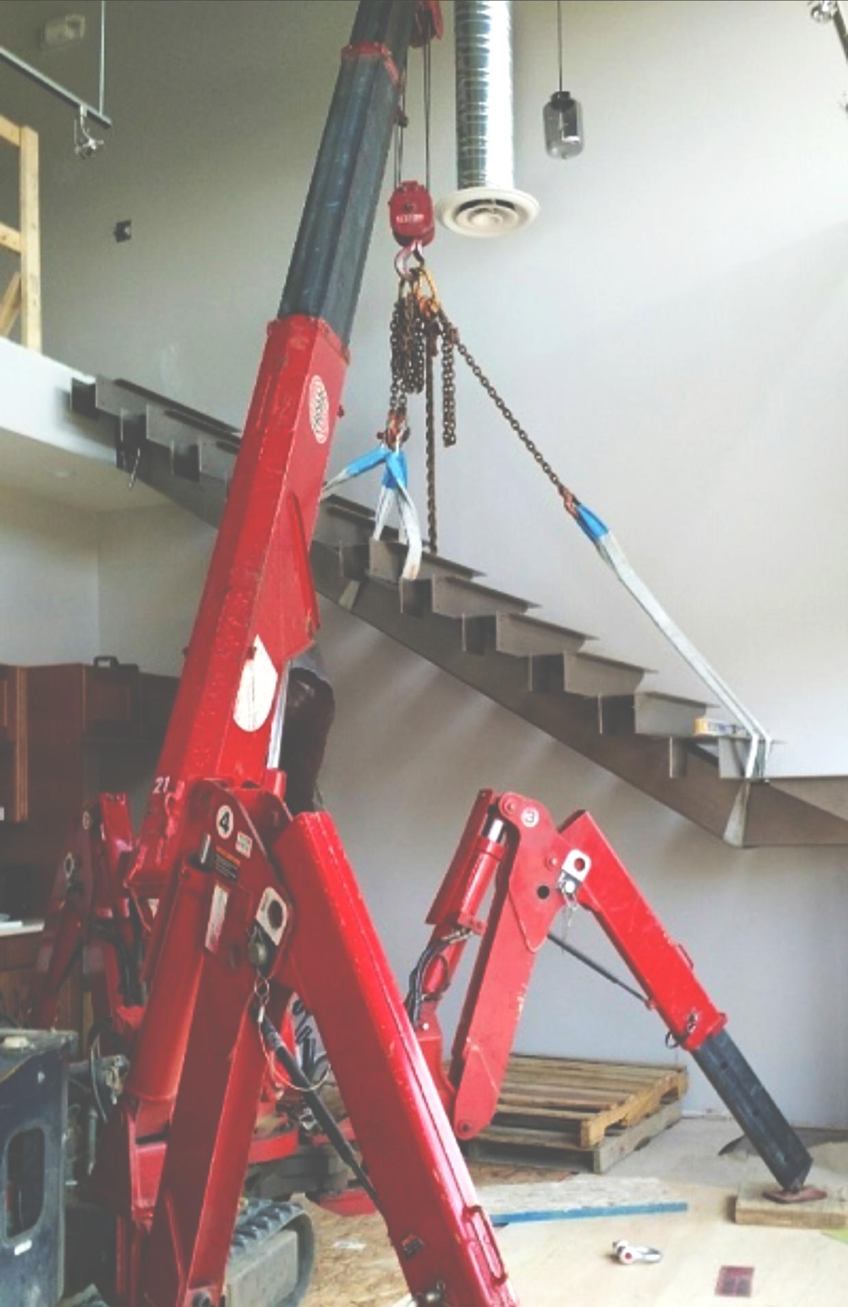 mini crane, Unic, Spyder crane, crane, lifting, solos