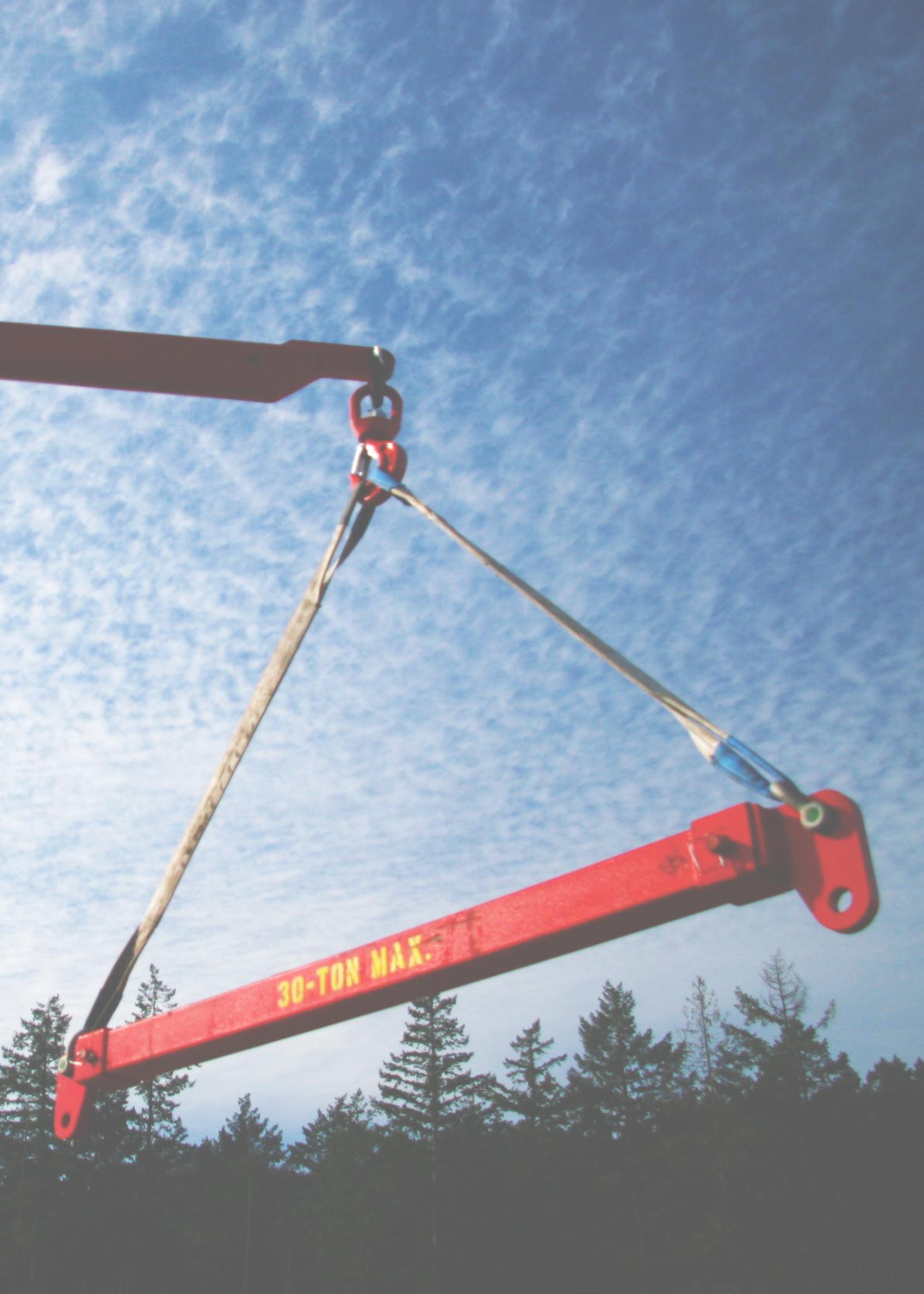 spreader bar, a picker truck, palfinger, crane, lifting, solos