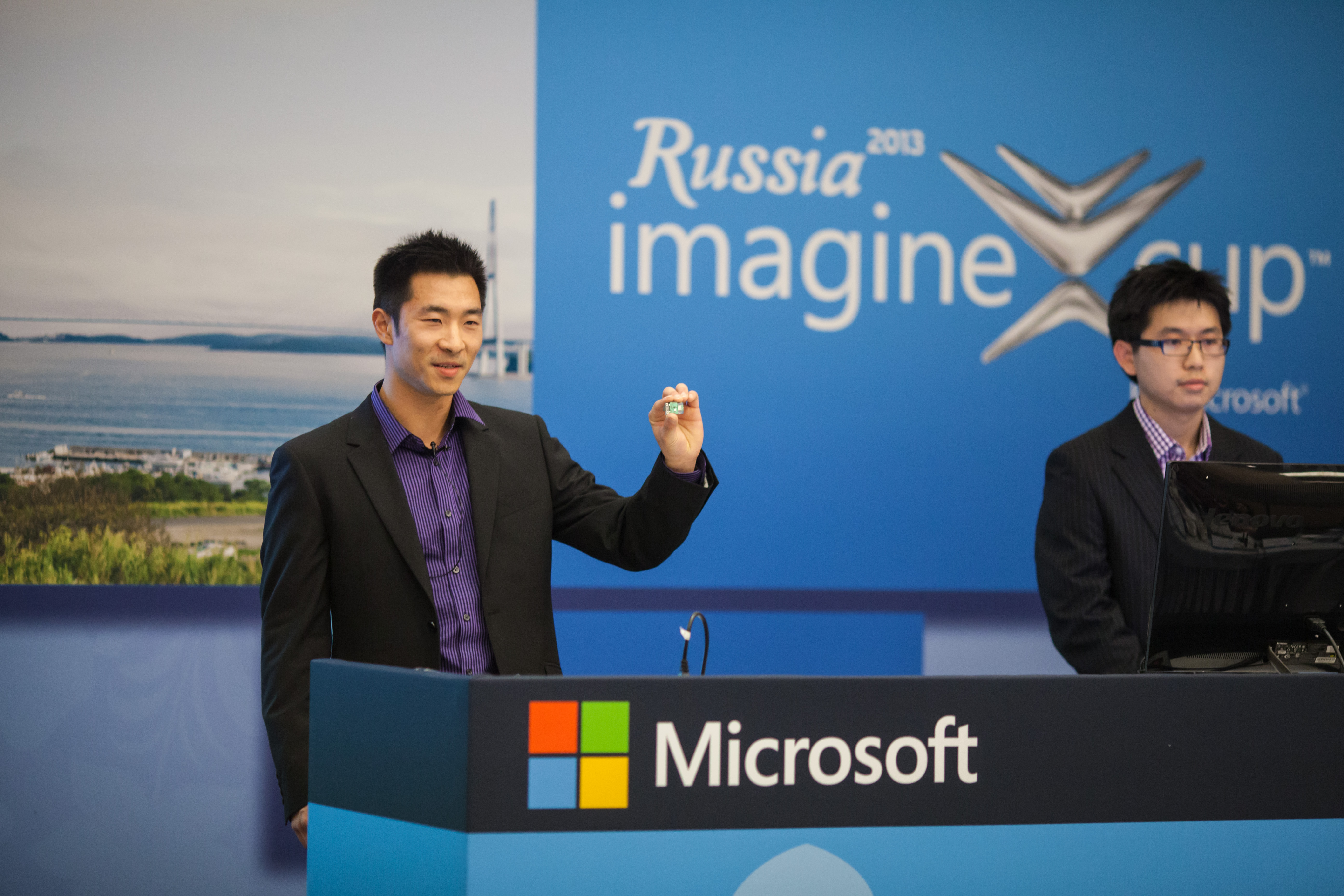 Spark 64 founders, Daniel Xu and Ming Cheuk, at the 2013 Microsoft Imagine Cup.