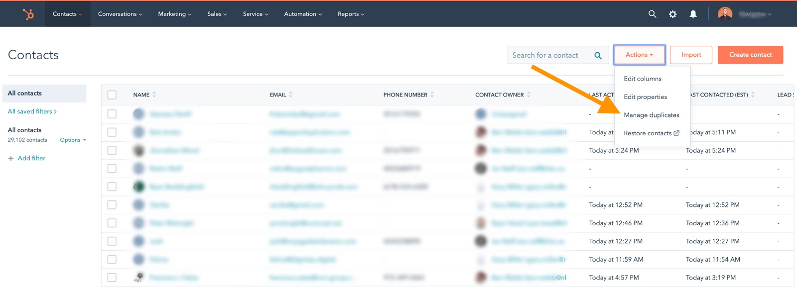 contacts-database-hubspot-actions-manage-duplicates