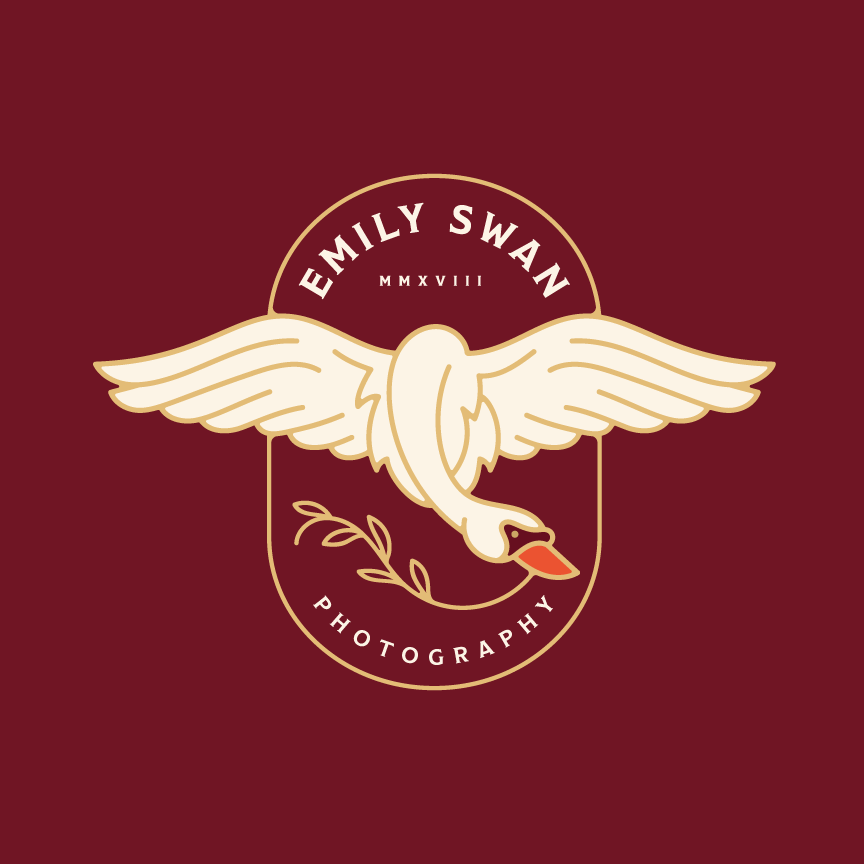 Branding, Badge Logo Swan Memphis, TN Photographer Emily Swan
