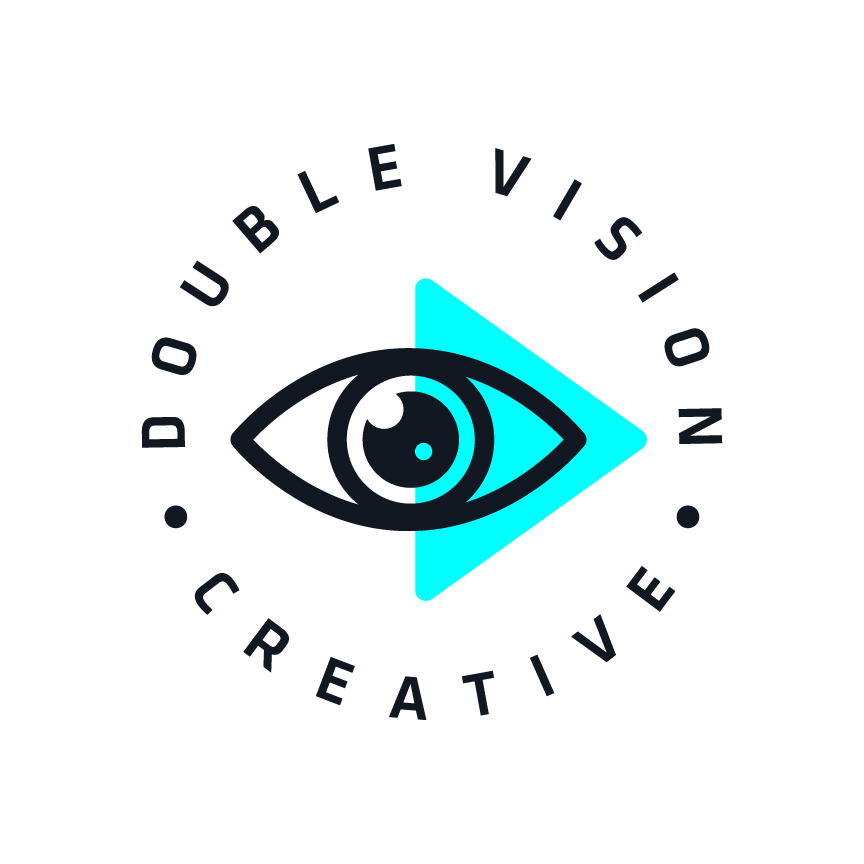 Double Vision Creative Videography and Photography in Nashville, TN Logo Design by Katie Cooper Branding Brand Identity