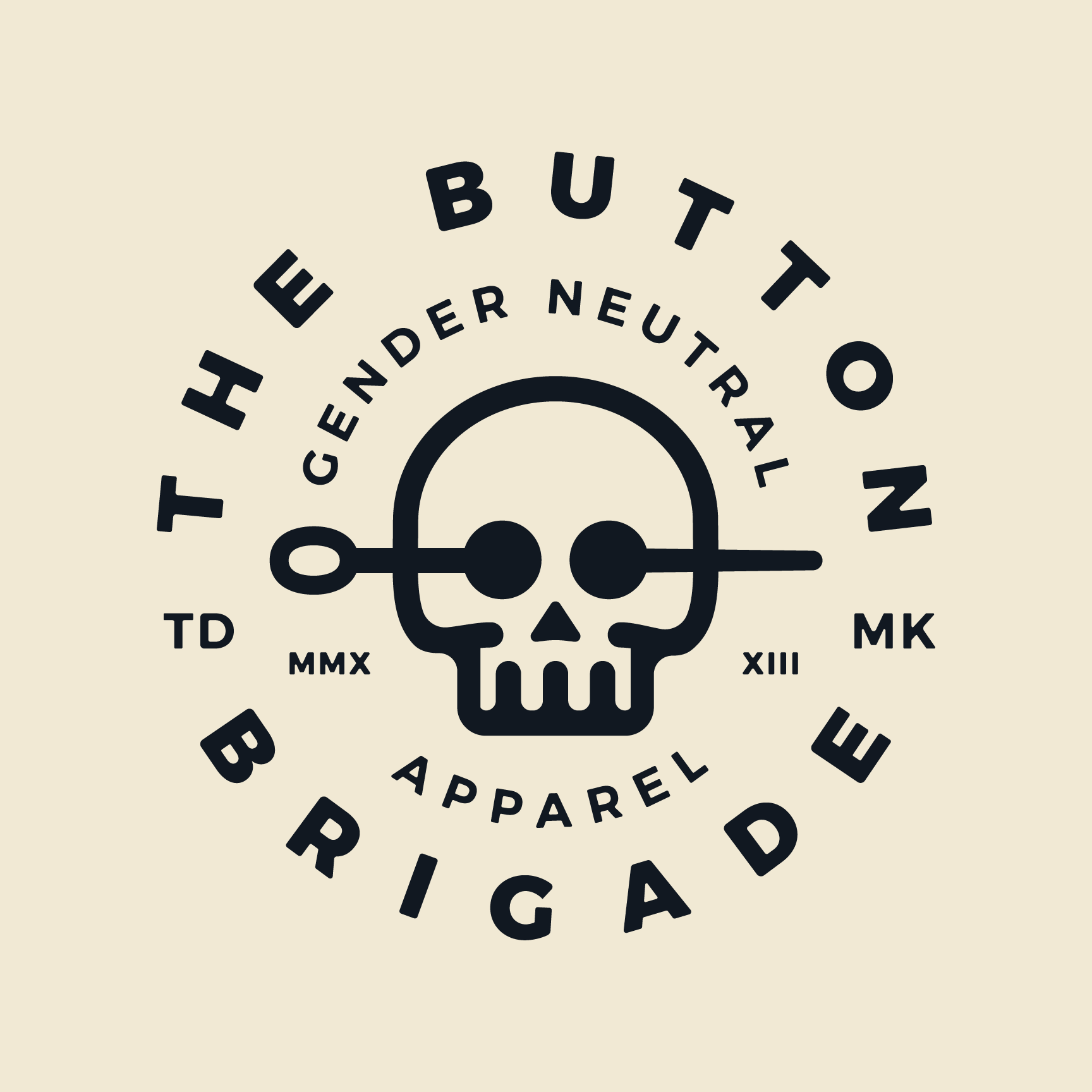 ton Brigade Gender Neutral Apparel Branding, Web Design, Kickstarter