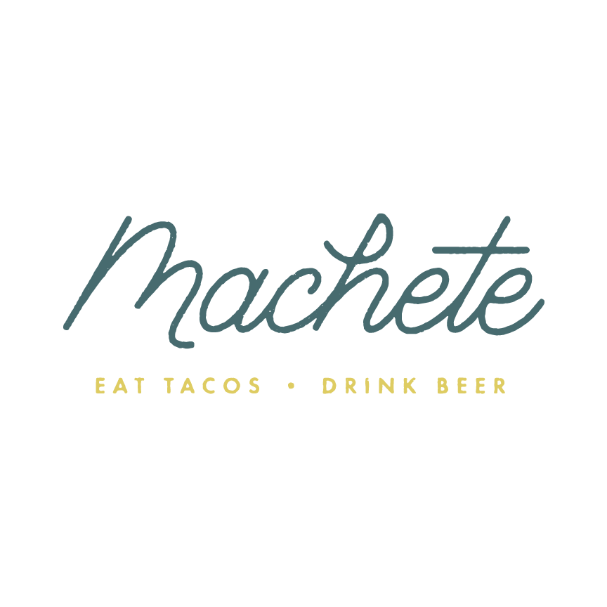 Logo lock-up for brand identity Machete Designer: Katie Cooper