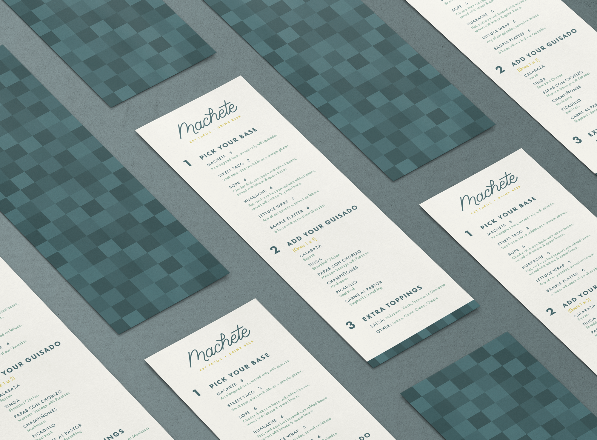 Menu Design for Machete Designer: Katie Cooper