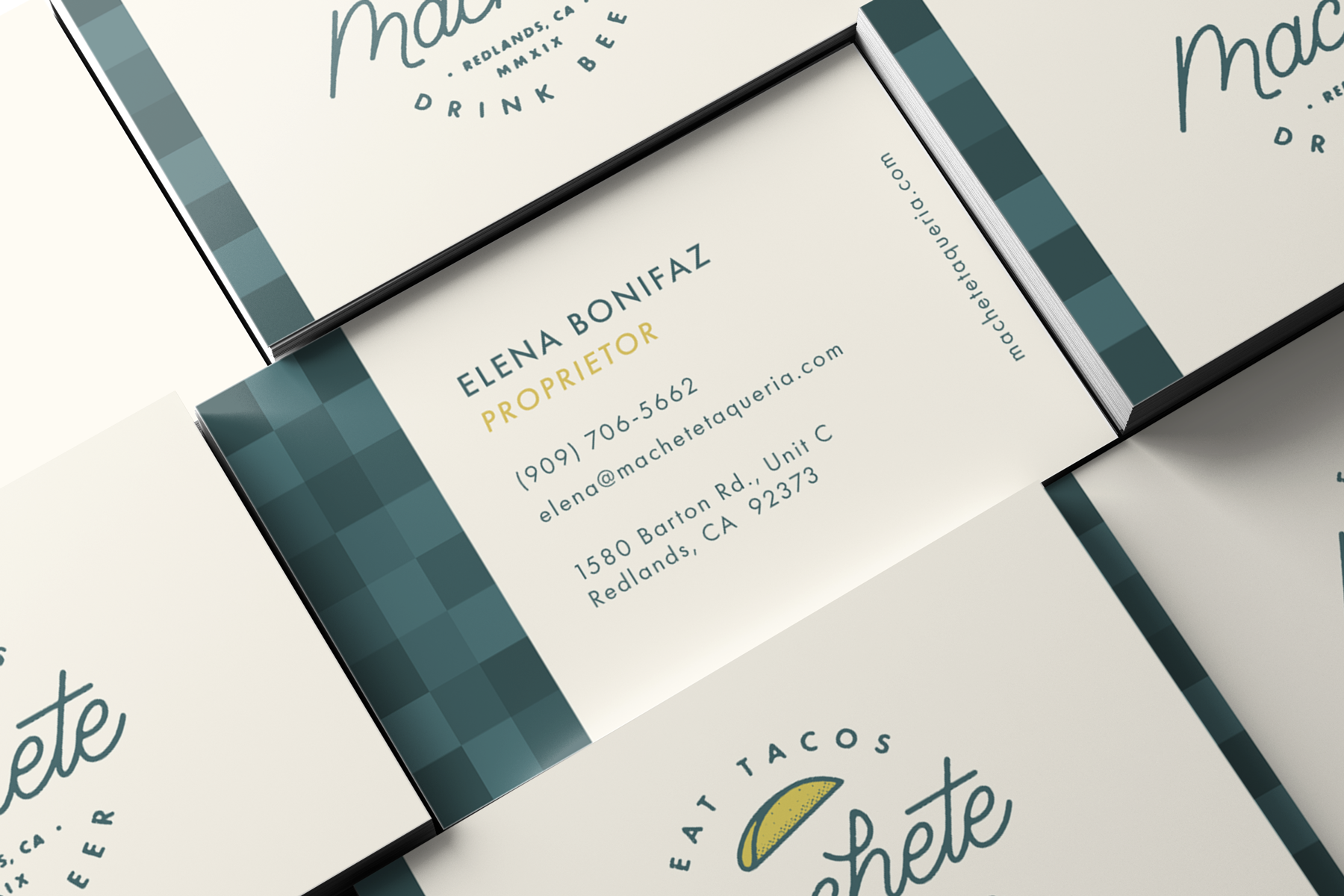 Business Card design for machete