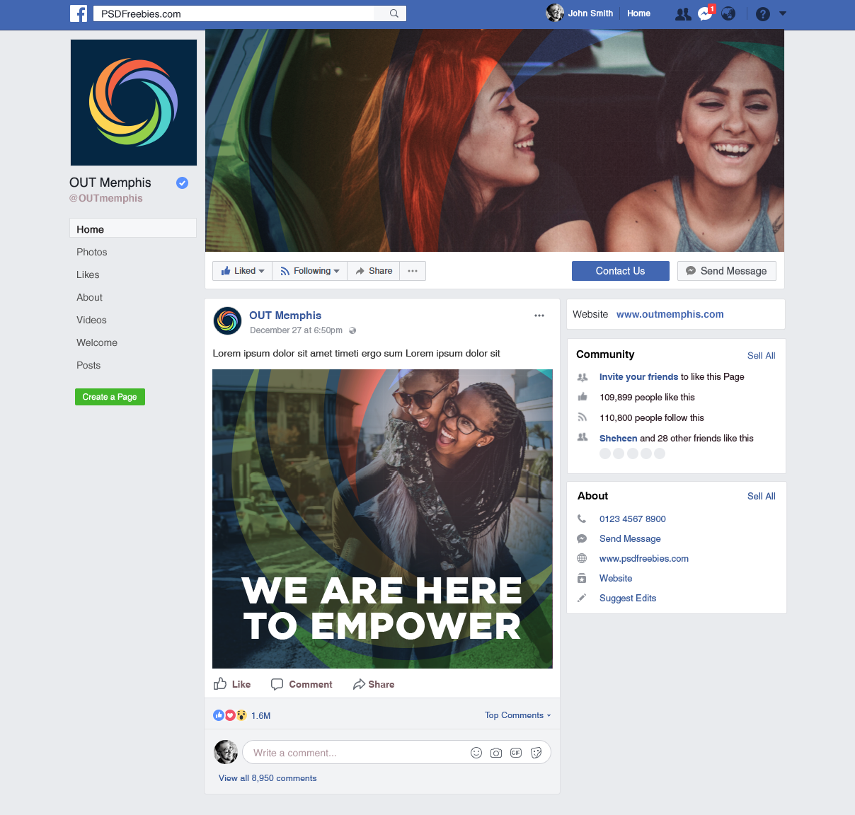 OUTmemphis social media campaign with digital assets
