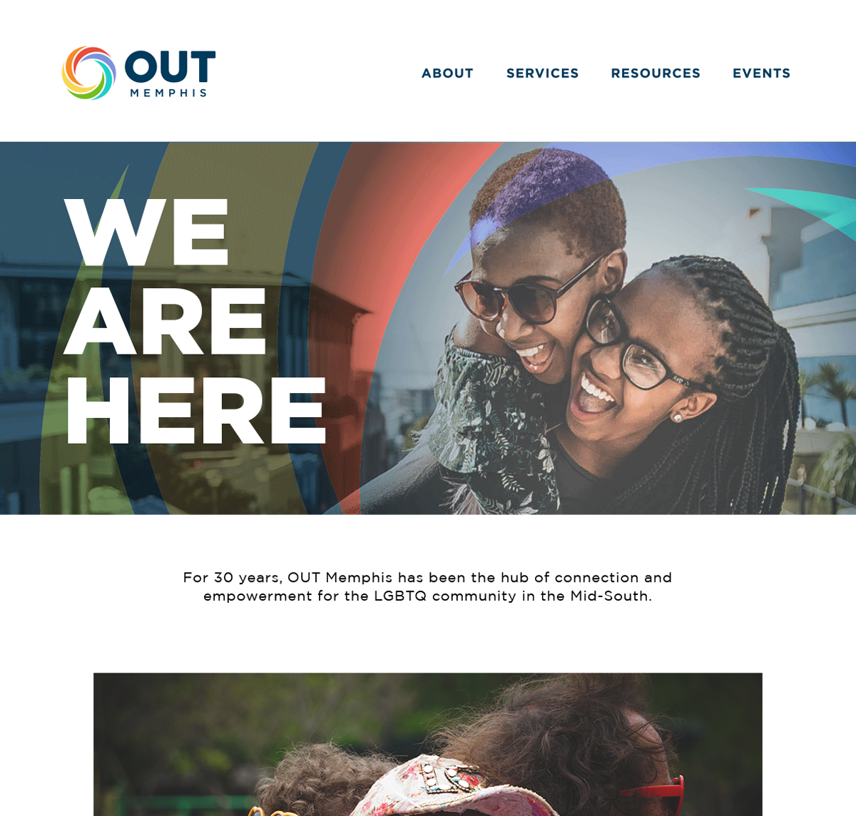 OUTMemphis log and website design with campaign as focus