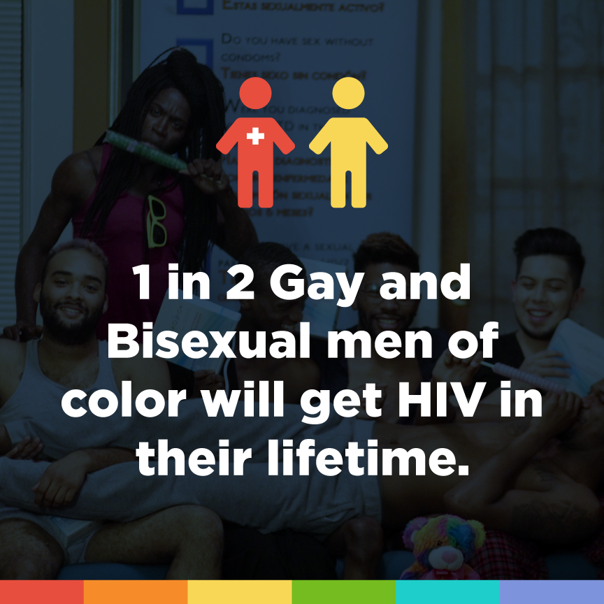 1 in 2 gay and bisexual men of color will get HIV in their lifetime.