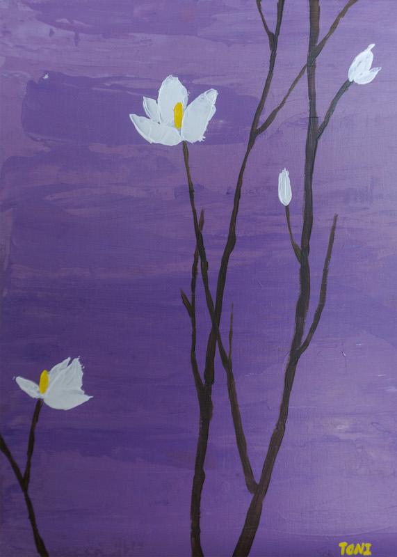 Acrylic PaintingFlowerStill LifeCheerful