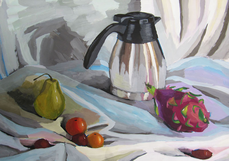 Acrylic PaintingWatercolorFlowerInteriorCityStill LifePeacefulCheerful