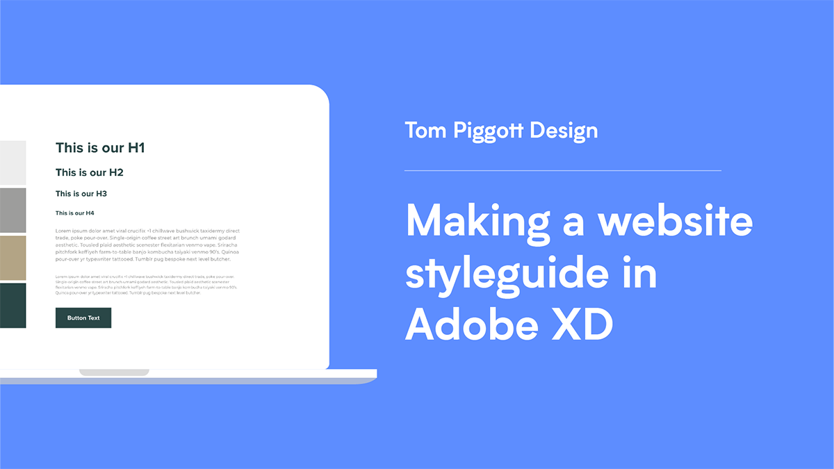 Making a styleguide in Adobe XD