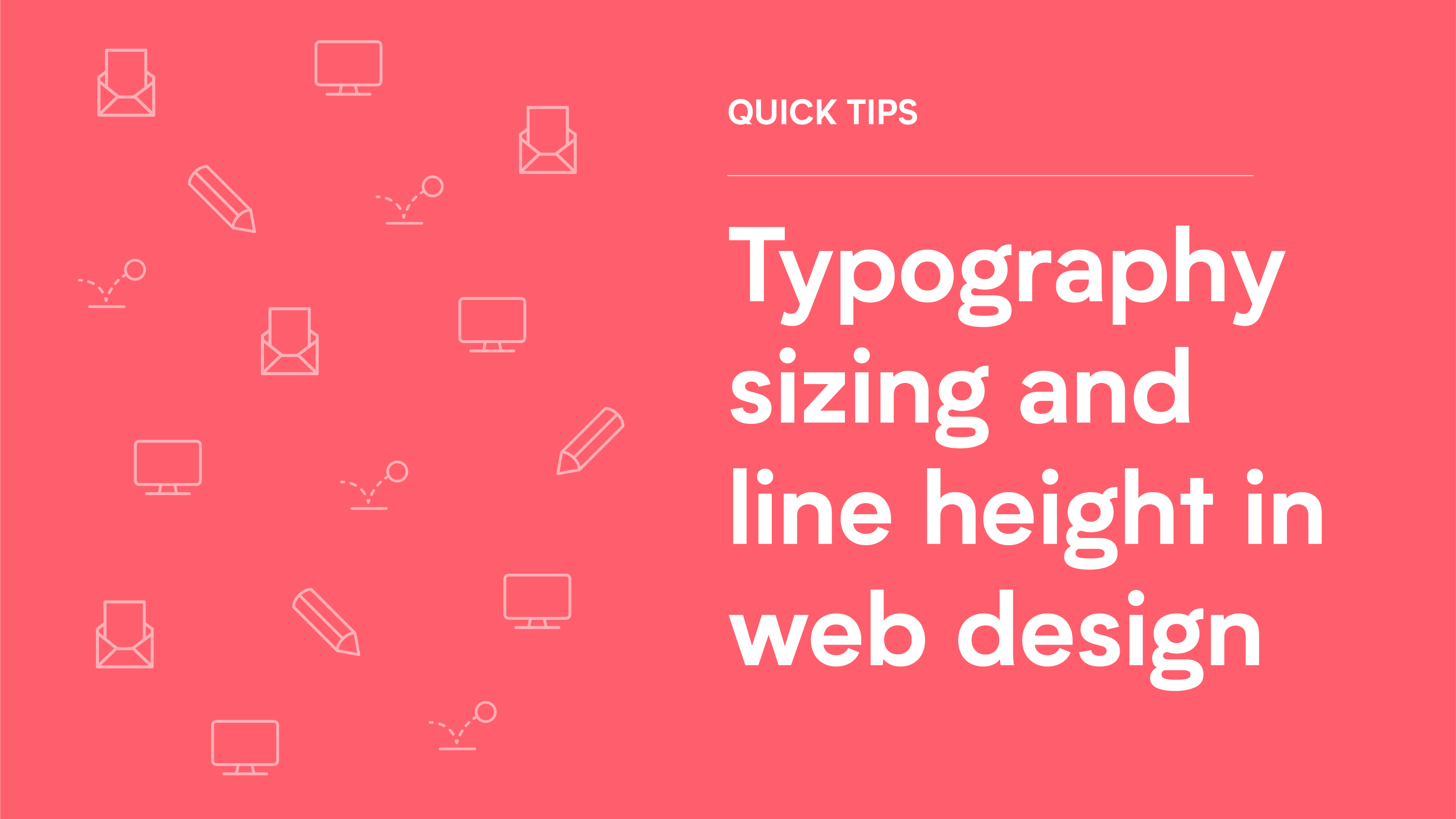 typography sizing and line height in web design graphic