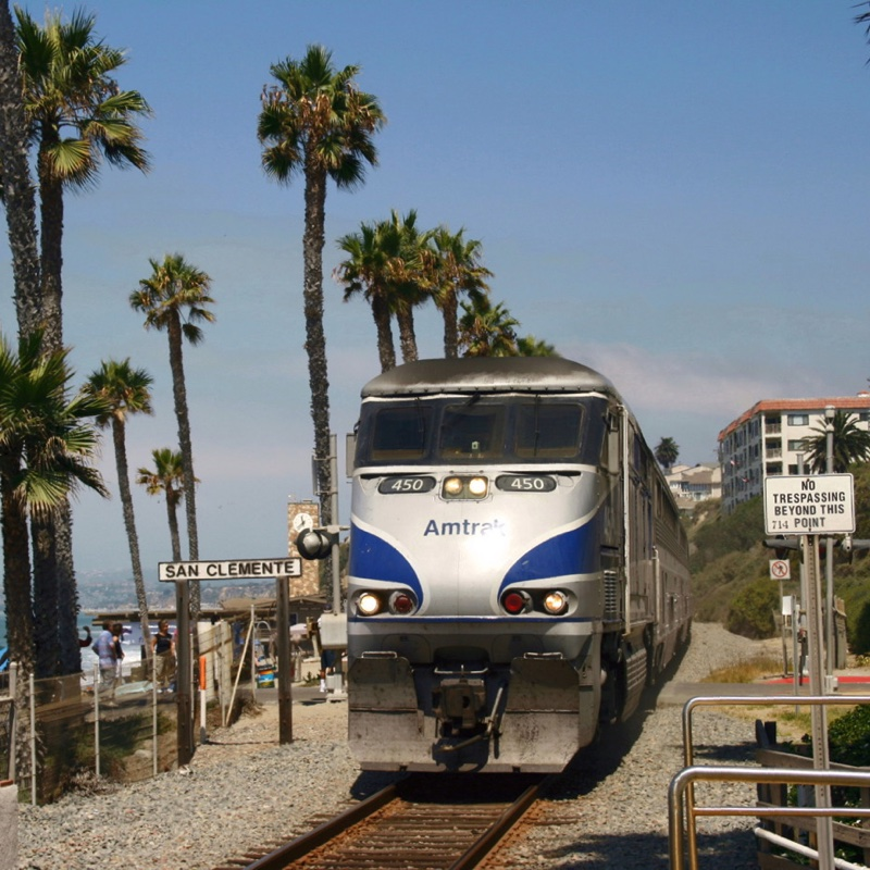 you can take the train to the san clemente pier