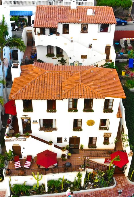 Drone view of hacienda