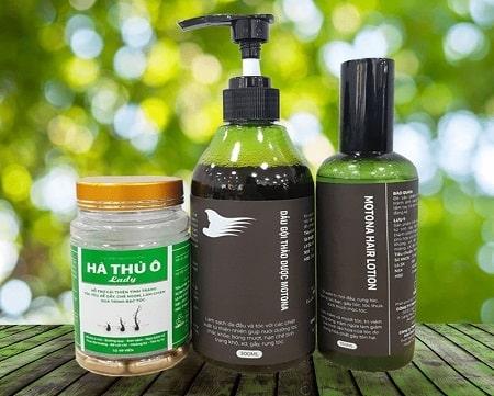 3.Motona hair - bộ ba sản phẩm thuốc kích thích mọc tóc từ tinh dầu bưởi