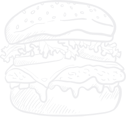 Lijntekening hamburger