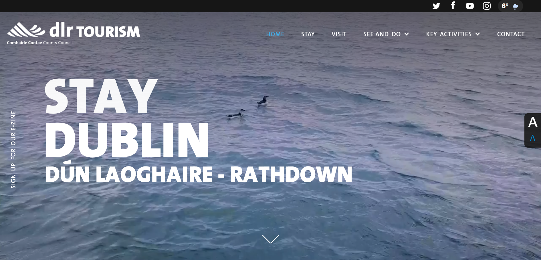 Digital Strategy and website design - DLR Tourism