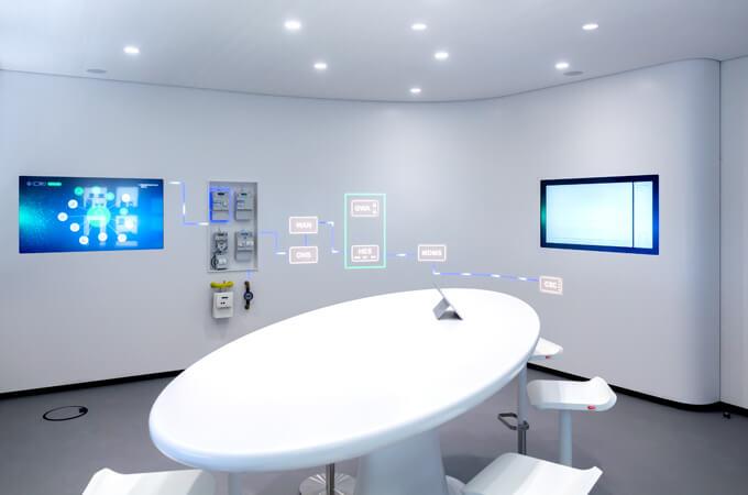 Showroom im 10. Stock des e.Kundenservice Netz-Gebäudes in Hamburg