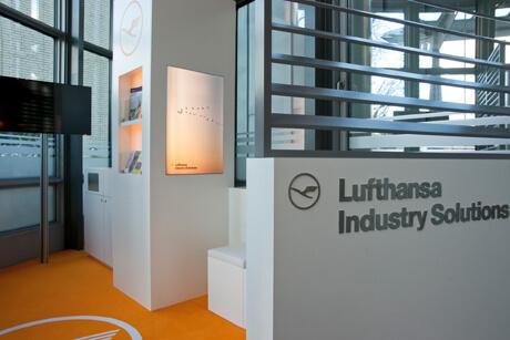 Wartebreich in der Hamburger Lufthansazentrale