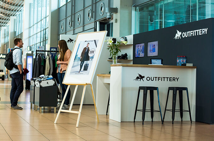 Concept Store für OUTFITTERY am Hamburg Airport