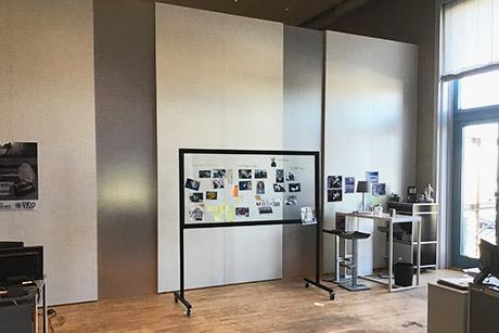 """Filmsetwand """"Die toten am Meer"""" für Moovie GmbH  - Stellwand SOLIDWALL 4m"""