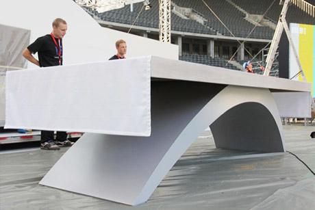 Möbeldesign für die Papstmesse im Berliner Olympiastadion