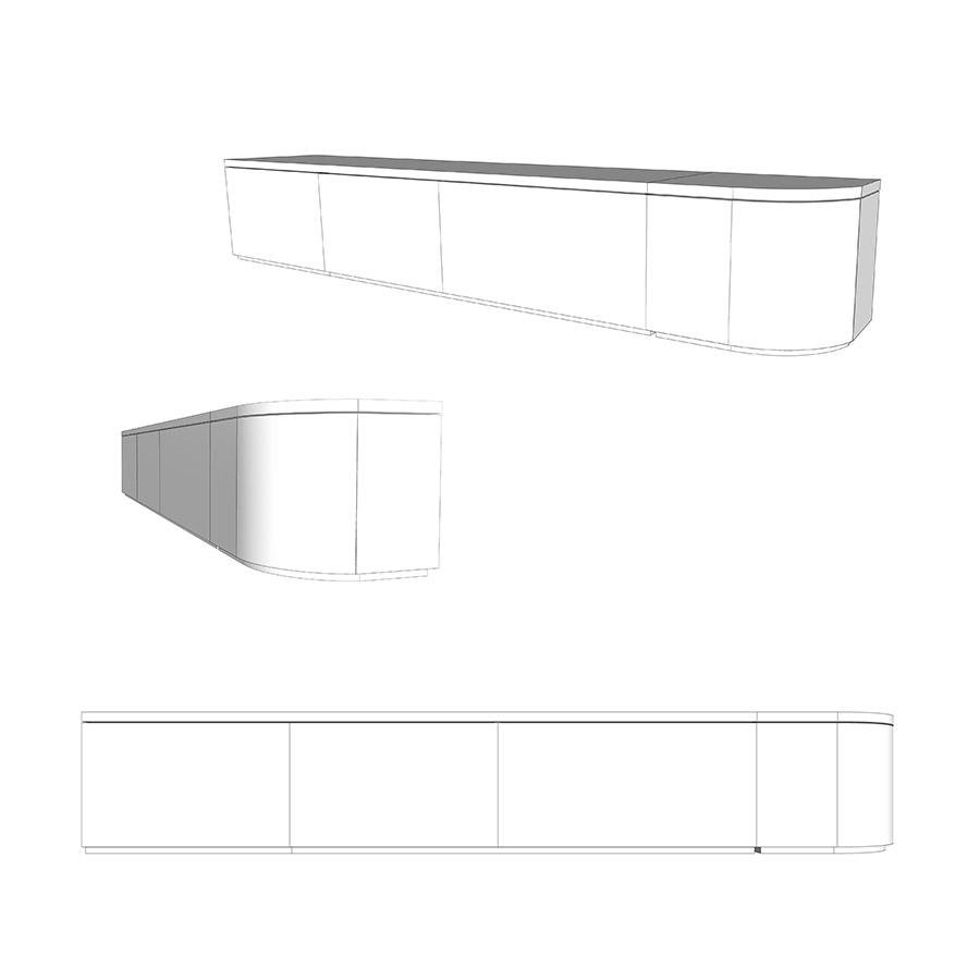Sitzbank weiß