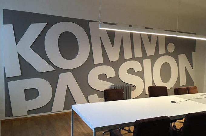 Wandgestaltung für Komm.passion GmbH in Hamburg