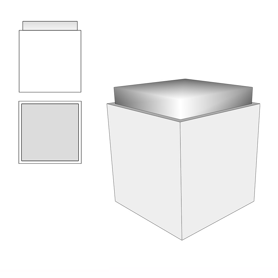 Sitzwürfel whitecube