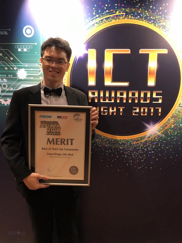 SmartPeep earns Merit of 2017 Best of Start-Up Companies award by MSC Malaysia Asia Pacific ICT Alliance