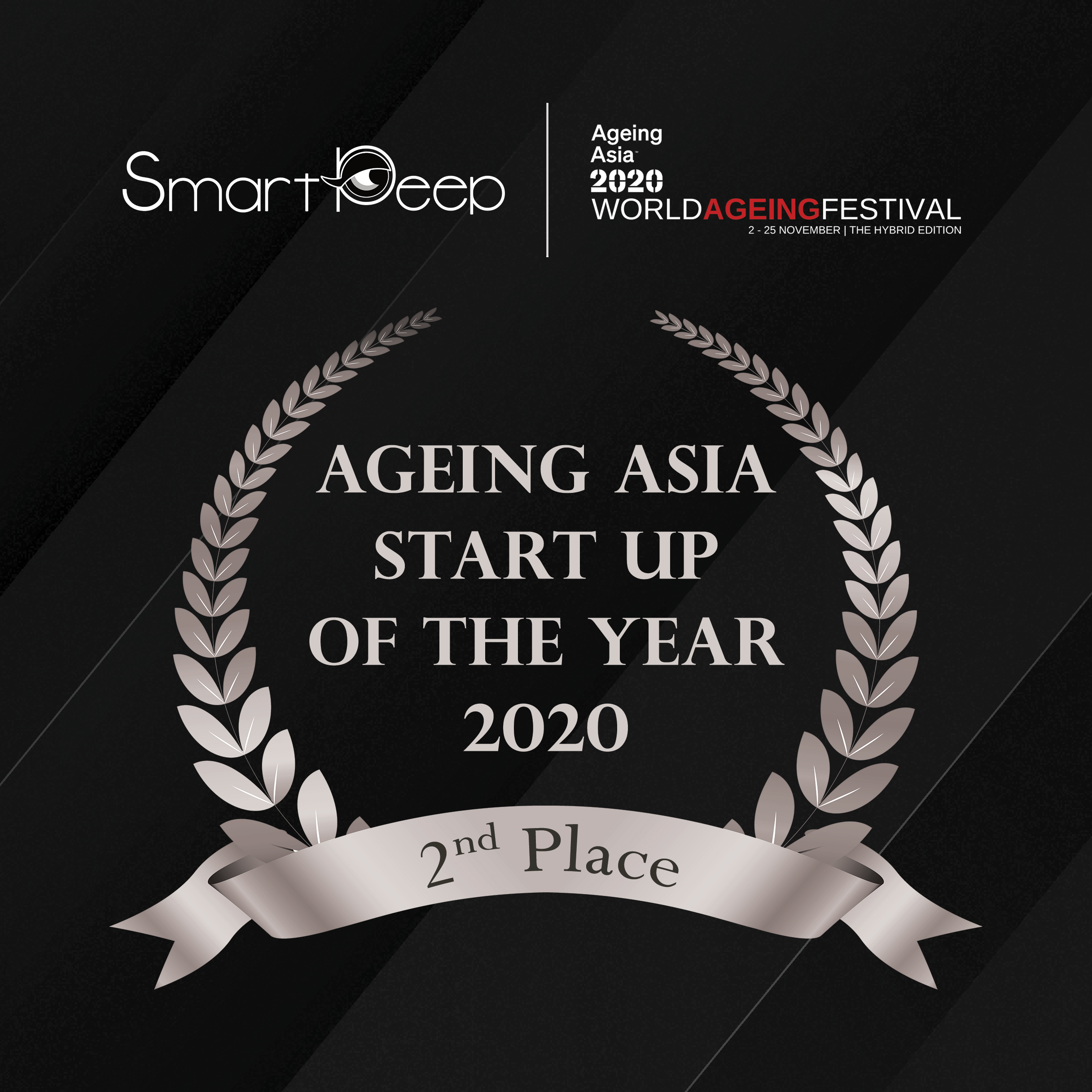 SmartPeep emerged as the 2nd place winner of the Start-Up Pitch Stadium at the Ageing Asia World Ageing Festival 2020