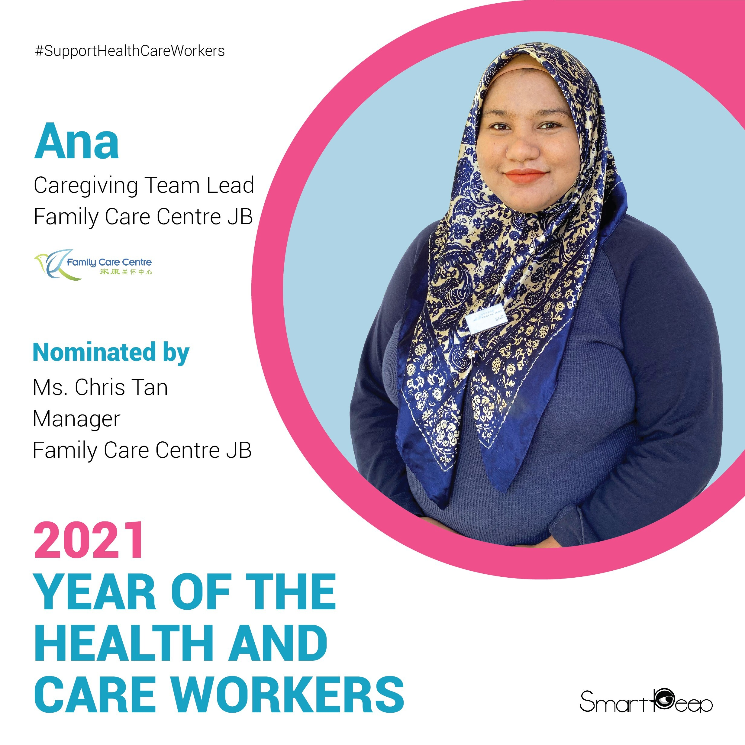 Meet the Care Champion Hero for World Health Worker Week, Ms.Ana from FCCJB